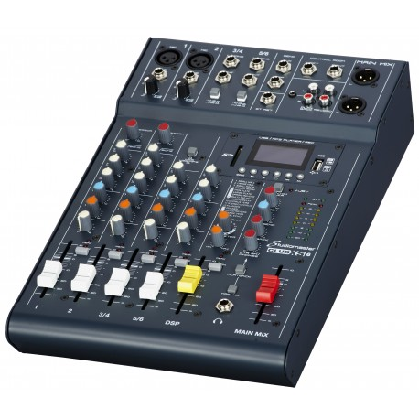 NEW CLUB XS 6 - 4 CHANNEL 6 INPUT MIXER